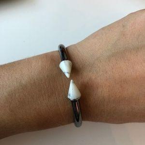 Vita Fede Mini Titan Silver and Marble Bracelet